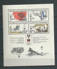 1983 MNH Tschechoslowakei Mi block 55