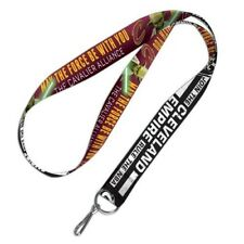 """STAR WARS YODA DARTH VADER DOUBLE SIDED CLEVELAND CAVALIERS LANYARD 1"""" W 20"""" L"""
