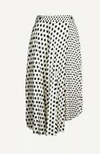 Topshop Pleated Polka Dot Skirt - Size 12 - Excellent Condition