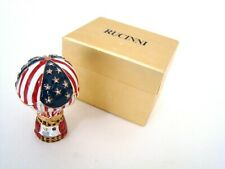 RUCINNI Jeweled Trinket Hinged Box - USA Flag Pattern Hot Air Balloon