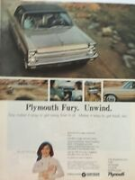1965 Plymouth Fury Coupe  - 11x14 Vintage Advertisement Print Car Ad LG52