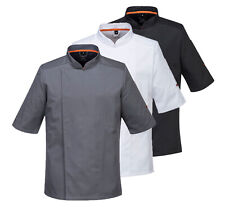More details for portwest meshair pro jacket short sleeve breathable chef kitchen catering c738
