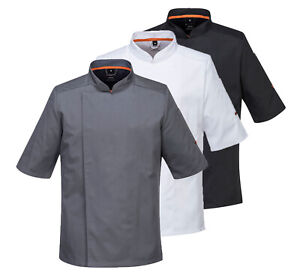 PORTWEST MeshAir Pro Jacket Short Sleeve Breathable Chef Kitchen Catering C738