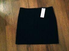 Nicole Farhi Black Stretch Drill Skirt Sz 12