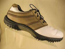 FOOTJOY Contour Series Beige Saddle Soft Spike Golf Shoes/Cleats #54364 SIZE 9M
