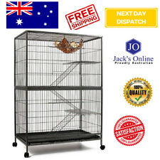 3 Level Cat Ferret Hamster Rat Bird Cage Aviary Enclosure Pet Accessories