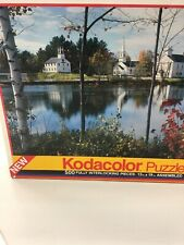 KODACOLOR PUZZLE 500 PC SEALED COUNTRY SETTING WHITE CHURCHES