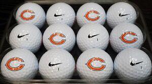 1 Dozen (Chicago Bears NFL Logo) Nike Assoted Mint Collectors Golf Balls