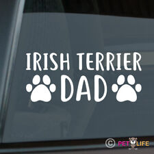 Irish Terrier Dad Sticker Die Cut Vinyl - red dog