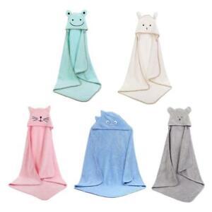 Baby Poncho Bath Towel Velvet Fleece Hood Infant Towels Blanket Newborn Towel