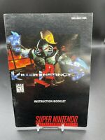 Killer Instinct Instruction Booklet ONLY! (SNES, Super Nintendo) Original