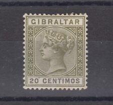 Gibraltar QV 1889 20 Centimes SG24 MH J6440