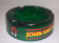 John Smith's Brewery England Green Glass Ashtray Cigar And Cigarettes 5 1/4�