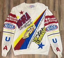 Vintage NHRA Championship Winston Cup Drag Racing SS Sport Sweatshirt Large