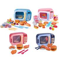 Food Cooking Simulation Microwave Kids Children Kitchen Pretend Play Toy TN2F