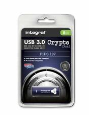 Integral 8GB CRYPTO DUAL USB 3.0 Encyrpted Flash Drive with FIPS 197 Security.