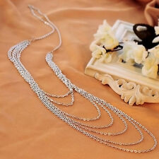 Mode Femme Collier Sautoir Multi-layers Pendentif Bijoux Longue Chaine Cadeau