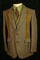Superb Mens Vintage Tweed Norfolk Shooting Jacket Blazer Size 40 medium