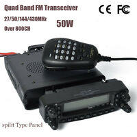 50W HF/VHF/UHF 27/50/144/430MHZ Mobile Transceiver Ham Radio Cross Band Repeat
