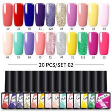 20 Pcs 8ml koskoe UV Esmalte Gel de Color Conjunto de Gel Soak Off Esmalte Gel UV para Uñas Arte