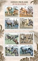 Mozambique - Endangered Hoofed Animals - 8 Stamp Sheet - 13A-970