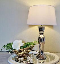 59 cm céramique lampe Argent Blanc Lampe de table pied de lampe ke-004tl NEUF