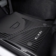 2016-2018 Cadillac CT6 GM Front & Rear All Weather Floor Mats Black 84025489