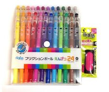 NEW Pilot Erasable Ink Pen Frixion Ball Pencil 24 colors + Eraser set F/S Japan