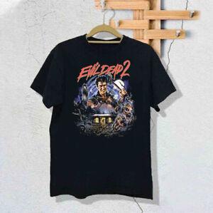 Evil Dead 2 Movie Horror T-Shirt Black Unisex Vintage Reprint size S-3XL TK2110