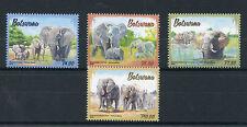 Botswana 2016 Elephants 4v Set Wild Animals Fauna Stamps