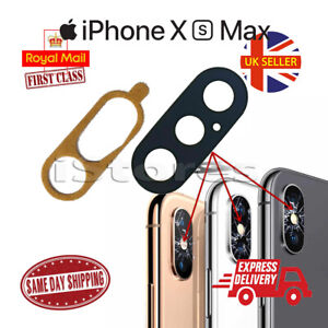 New iPhone XS Max Replacement Rear Back GLASS Camera Lens Cover with Adhesive