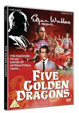 Edgar Wallace Presents FIVE GOLDEN DRAGONS. New sealed DVD.