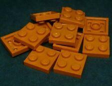 PACK of 11 LEGO BRICK PLATES 2X2 Bright orange 4159007//3022