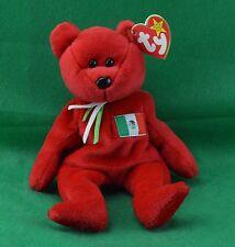 Osito TY Beanie Baby Red Mexican Teddy Bear MWMT Birthday February 5 1999 #4244