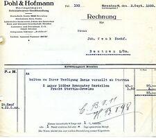 Alte Rechnung 1930 Pohl Hofmann Breslau Schlesien Heringsimport Sardellen