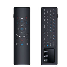 New All-in-one 2.4GHz Wireless Fly Air Mouse Keyboard Touchpad IR Control Black