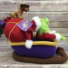 Beverly Hills Teddy Bear Co. 2000 How the Grinch Stole Christmas Grinch Sleigh
