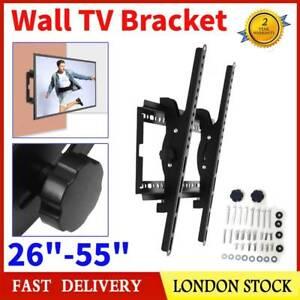 Adjustable Slim TV Wall Bracket Mount Tilt For 26 32 37 40 42 49 50 55 Inch LCD