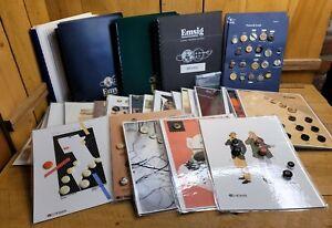 Lot Emsig Salesman Sample Button Collector Store Display Books & Cards Vintage