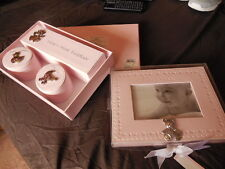 New listing First Impressions Baby Girl Boxes And Baby Photo Frame Nib From Macys