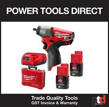 "NEW MILWAUKEE 12V CORDLESS BRUSHLESS FUEL M12CIW38-202C IMPACT WRENCH 3/8"" DRIVE"