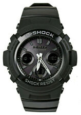 Casio G-Shock Ana-Digi Tough Solar Atomic 200m Black Resin Watch AWGM100B-1A