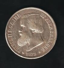 BRASIL 2000 REIS 1889, SILVER VERY NICE CONDITION
