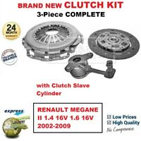 FOR RENAULT MEGANE II 1.4 16V 1.6 16V 2002-2009 BRAND NEW 3-PC CLUTCH KIT + CSC