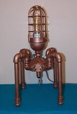 Steampunk Lamp / Light Vintage Antique Industrial Machine Age Edison With Bulbs