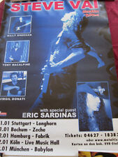 Steve Vai Eric Sardinas German concert Poster 23.5x33