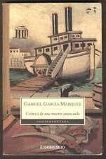 G Garcia Marquez Book Cronica De Una Muerte Anunciada 2003