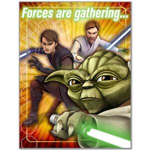 Star Wars Clone Wars Birthday Party Supplies Invitations
