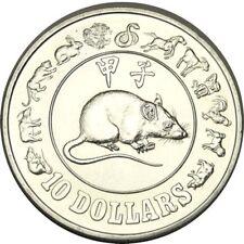 elf Singapore 10 Dollars 1984 Nickel Rat