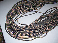 """NEW.  (1) PAIR 45"""" by 1/8"""" (Dark BROWN COLOR) RAWHIDE LEATHER  SHOE/BOOT LACES."""